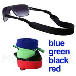 Occhiali in neoprene online-42 * 2.5cm Occhiali da sole la cinghia del neoprene da sole di sport occhiali Neck Strap Cord fermo 7 colori da scegliere ZZA984 50 PCS
