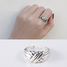 Fashion Dichroic Finger Rings Separation X Rings Silver Plated Women/'s Ring