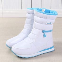 Sapatas livres agradáveis on-line-Botas de inverno Mulheres Ladys quentes Shoes Bota de Neve Dentro Mixed Lã Natural Sólido Cor Branco Buffie 2019 de vista agradável frete grátis