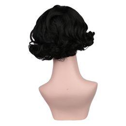 2019 perruques à tête pleine pour les femmes Soins des Cheveux Perruque Stands 2018 Chaude Soie Courte Bouclée Vague Perruques Complètes Résistant À La Chaleur Fluffy Wave Head Perruques Cheveux Mode Féminine Nov6 promotion perruques à tête pleine pour les femmes