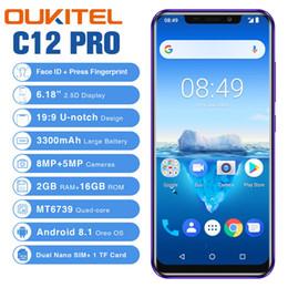 """2019 мобильный телефон новая модель OUKITEL С12 Pro 6.18"""" 19: 9 Android 8.1 4G смартфон Quad Core 2G RAM 16G ROM, сотовый телефон отпечатков пальцев Лицо ID 3300mAh Мобильный телефон"""