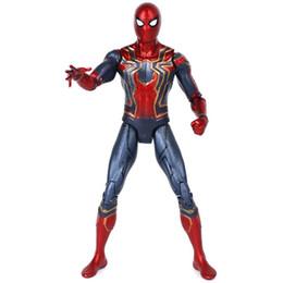 figurine di raccolta anime Sconti PVC Spiderman Action Figure Toys Hero Spider Man Figurine Modello Anime Movie Collection Giocattoli per ragazzi 17cm