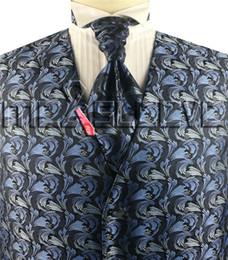 Vestido / esmoquin de poliéster para hombre, 4pcs (chaleco + corbata de ascot + gemelos + pañuelo) desde fabricantes