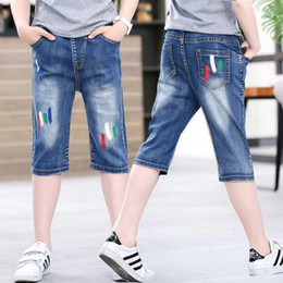 1df611abe Kids Designer Clothes Girls Jeans shorts for boys soft denim summer beach  shorts bottom clothes for girl pants cotton shorts 110-160cm