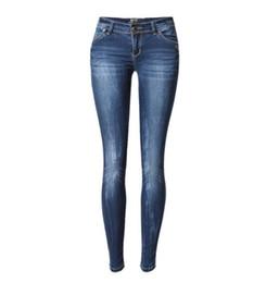 Jeans serrés en Ligne-Jeans pour dames mère jeans taille basse dames haute élastique XL stretch femmes stretch pantalon crayon serré denim délavé