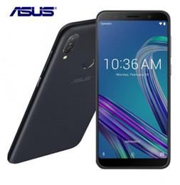 2019 m1 teléfono móvil Asus ZenFone Max Pro (M1) ZB602KL SnapDragon 636 Android 8.1 6GB 64GB 6 '18: 9 FHD + ID de cara 5000mAh Batería Teléfono móvil 3 ranuras rebajas m1 teléfono móvil