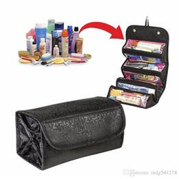 bolso cosmético de las mujeres del bolso del viaje caliente para hacer fácil tomar el bolso cosmético del organizador del maquillaje enrollar para arriba desde fabricantes