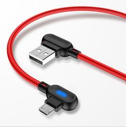 Argentina Cable micro USB de 3 pies 6 pies para el cable Tipo-C dual Cable de carga rápida de 90 grados Adaptador del cable del cargador del teléfono móvil usb Suministro