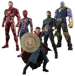 Heiße spielzeug kapitän amerika rächer online-NEUE heiße 15 cm MK45 MK50 Avengers Infinity War Thanos Spiderman Arzt Seltsame Captain America action figure sammlung spielzeug