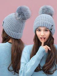 Nueva gorra de lana Invierno Sombrero Mujeres invierno versión coreana moda  de ocio lana linda Punto cálido oreja gorra marea bc552a56288