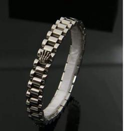 Pulseras de oro para hombre joyas online-Nueva joyería de diseño popular Pulseras de titanio R Palm Tank Bracelet Luxury Mens Simple Bracelet 18k Rose Gold Couple Bracelet