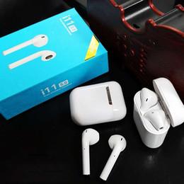 Deutschland i11 Tws Doppel-Mini-Bluetooth 5.0-Touch-Ohrhörer Ohrhörer Drahtlose Touch-Taste Mit Ladeschachtel Smart Siri Doppelohr Anruf für iOS Android Versorgung
