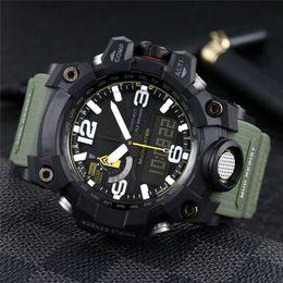 Resina al quarzo online-GWG-1000 Orologi sportivi da uomo Impermeabile orologio di lusso Resina agli urti Batteria al quarzo Display digitale Orologio mondiale da uomo Orologio da polso