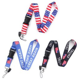 Telefone amerika online-Trump Telefon Lanyard Telefon Umhängeband Make America Great Again ID Badge Holder Halskette Strings Neuheit-Einzelteile OOA8091