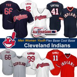 Indiano de beisebol on-line-Cleveland Yasiel Puig, Indians, Carlos Santana, Jersey, Francisco, Lindor, Trevor Bauer, Jason, Kipnis, Jake, Bauers, basebol, jerseys
