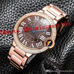 69092fea72e New Luxury watch Swiss Automatic Mechanical Movement Diamond Bezel Sapphire  Crystal Rose Gold Stainless Steel lovers Watch