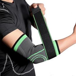 equipamento de tênis Desconto 1Pcs Bandage de basquetebol que funciona Voleibol Tennis Elbow Protector Suporte Elbow Guard Braço Cotovelo Exercício Equipamentos de Proteção
