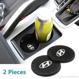 коврики hyundai Скидка 2 шт 2,75 дюйма автомобилей Аксессуары для интерьера Антипробуксовочная Slot Кубок Коврики для Hyundai Все модели