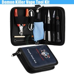 Rba authentique en Ligne-Authentique Demon Killer Vape Tool Kit Démarreur Complet Pince En Céramique Vis Courbée DIY Pré Construction Bobines Jig pour MODs RDA RBA atomiseurs de machine