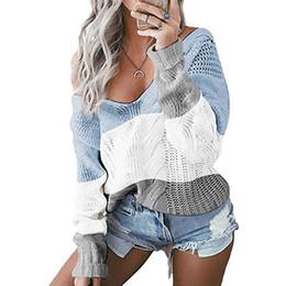 2020 blusas de ombro pretas Mulheres camisola feita malha Casual rosa Jumper Puxe Femme Sweater Outono Inverno Marca Preto Sexy Off Pullovers ombro malhas 2019 blusas de ombro pretas barato