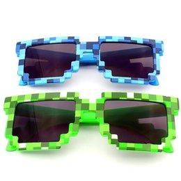 Giochi per ragazze online-3 colore Mosaico occhiali da sole moda per bambini Giochi Occhiali Giocattoli Ragazzi e Ragazze fuori occhiali da sole per bambini regalo di compleanno 20PCS