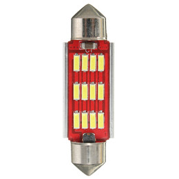Bulbo llevado 42mm online-Festoon blanco Canbus Bombilla interior sin errores 36 39 42mm 12SMD 4014 LED