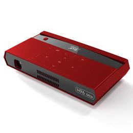 Полоса активной зоны онлайн-Топ H96 MAX Android DLP LED Мини-проектор S912 Octa Core Smart TV Box Двухдиапазонный Wi-Fi 2G 16G Bluetooth-динамик Голосовой пульт дистанционного управления DHL Free