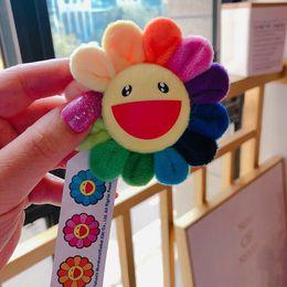 2019 cuscini di girasole Miglior regalo Ciondolo spilla fiore di sole colorato Takashi Murakami Cuscino girasole 60 cm Cuscino 2 piedi Kaikai Kiki Autentico cuscini di girasole economici