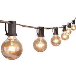 lindas luzes de natal árvores Desconto Luzes da corda do globo de 25Ft G40 com bulbos claros, luzes do pátio do quintal listadas UL, luzes de corda internas / externas de suspensão