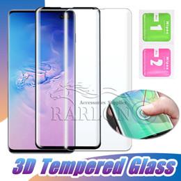 telefonschutz Rabatt 3D Curved Full Cover Hartglas Telefon Displayschutzfolie Full Coverage Film für Samsung S10 E S10 Plus 5G S9 S8 Plus Hinweis 9 8 S7 Edge
