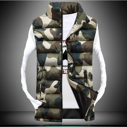 2020 hoodies ärmellos männer styles Hirigin Winter-Weste Männer 2018 Jacken Ärmel Hoodie Solid / Militär tarnt 2 Art-dünne Winter-warmen Baumwollmantel günstig hoodies ärmellos männer styles