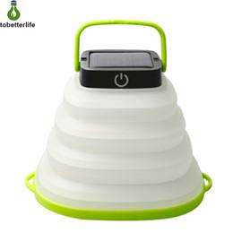 Mini führte 1w lichter online-LED-Solar Camping Licht im Freien zusammenklappbaren Beleuchtung LED-Taschenlampe bewegliche Laterne Mini-Zelt-Licht Notlampe warmweiß buntes Licht