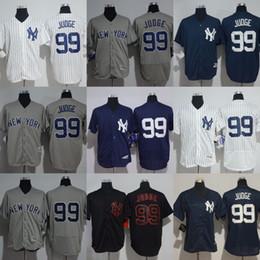 billige jugend baseball trikots Rabatt 99 Aaron Judge Jersey Preiswerte Qualitäts-Frauen der Männer / Jugend-authentisches genähtes Aaron Judge geben Verschiffen frei Größe S-XXXL Baseball Jerseys