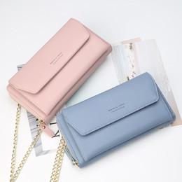 2019 borsa famosa della signora coreana borsa a tracolla delle donne casuali di nuovo di marca famosa ladies portafoglio borsa cerniera pochette crossbody grande capacità multi-card versione coreana borsa famosa della signora coreana economici