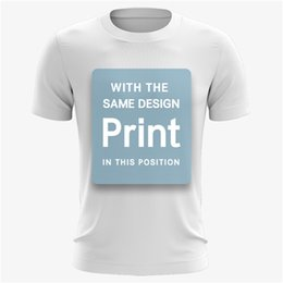 Image blanche de t shirt en Ligne-2019 Your Design Brand Logo / Picture Personnalisé T-shirt Léger Homme / Femme, T-shirt Enfant