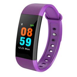 Lithium watch battery онлайн-Smart Watch Heart Rate Fitness Водонепроницаемый -20 ~ 60 Браслеты Литиевая батарея Браслет
