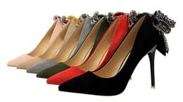 varietà di rosa rossa Sconti I tacchi alti delle donne del diamante di bowknot di alta qualità all'ingrosso alla moda e sexy in vari colori; rosso, nero, verde, kaki, grigio e pi