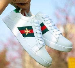 Designer Chaussures De Luxe G Hommes Femmes Sneakers Mocassins ACE Broderie Petite Abeille Serpent Tigre Tête G Casual Chaussures Plates 36-44 ? partir de fabricateur