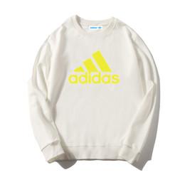 детские футболки с изображением свитера Скидка Новый детский бренд свитер мальчики девочки с длинными рукавами футболки с капюшоном спортивно-досуговая куртка детская шею свитер ADIDAS