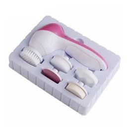 Nouveau 5 en 1 Lavage Électrique Face Machine Face Pores Acné Nettoyant Corps Nettoyage Massage Mini Peau Beauté Massager Brosse ? partir de fabricateur