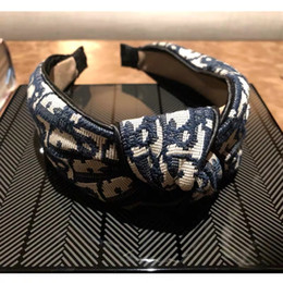 Wholesale Designer Stirnband für Frauen Wide Striped nette Haar Band freies Verschiffen Haarbänder mit Tuch gewickelt für Mädchen