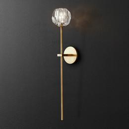 K9 Wandleuchte BOULE DE CRISTAL LANGLEUCHTE Moderne Loftlampe Büro Restaurant Hotel Esszimmer Schlafzimmer America Lighting von Fabrikanten