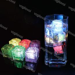 LED Cubes De Glace Bar Rapide Lent Flash Auto Changement Cristal Cube Actif Dans L'eau Coloré Pour Le Mariage De Fête Romantique Cadeau De Noël DHL ? partir de fabricateur