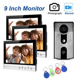 Canada Système d'interphone vidéo filaire 9''Inch avec enregistrement et caméra de vision nocturne infrarouge pour la sécurité à domicile cheap security recording systems Offre