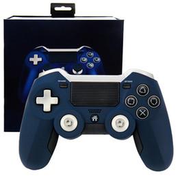 Controlador inalámbrico 2.4g pc online-Limitado último controlador de gamepad inalámbrico 2.4G para PS4 Controlador de juego Ps3 Vibración Joystick Gamepads para PC Juego