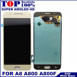 2019 samsung a8 Для Samsung Galaxy A8 A800 A8000 A800F Super AMOLED телефон ЖК-дисплей с сенсорным экраном дигитайзер Ассамблеи 100% Испытано Замена скидка samsung a8
