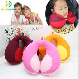 2019 набивка ткани Pillow kids Newbron Travel Neck Pillow U-Shape For Car Headrest Air Cushion Child Car Seat Head Support Infant Baby Kussen MOOB