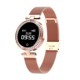 smartwatch di lusso Sconti Orologio intelligente multifunzionale delle donne di lusso Smart Band Sleeping Monitor di frequenza cardiaca Smartwatch Orologi da donna di moda per Android IOS