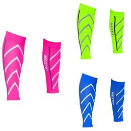 2019 Unisex Hombres Wome Correr Atletismo Mangas de compresión Pierna de pantorrilla Shin Férulas Codo Rodilleras Protección Deportes Seguridad HotNew desde fabricantes