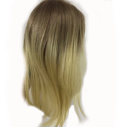 Canada Full Shine Extensions de Cheveux Humains Ombre Remy Topper Couleur # 10 Doré Brun Atténuation à # 613 Blond Humain Topper cheap golden brown hair extensions Offre